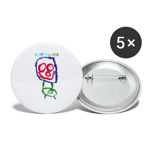 happiwær2 - Buttons/Badges stor, 56 mm (5-pack)