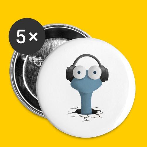 Musicworm - Stora knappar 56 mm (5-pack)