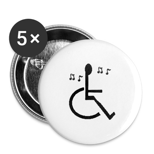 Musical Chairs - Buttons large 2.2''/56 mm(5-pack)