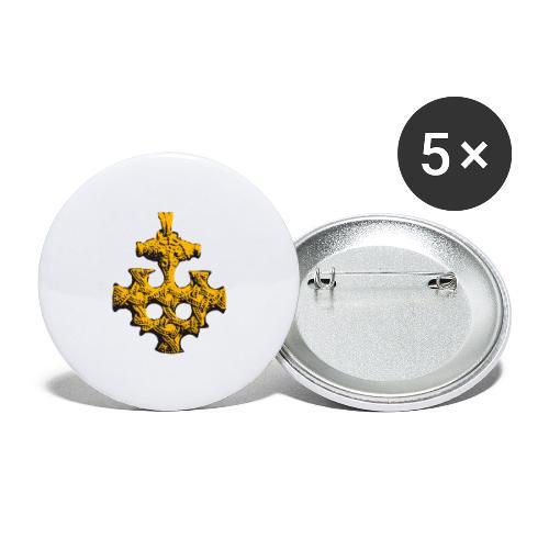 Goldschatz - Buttons groß 56 mm (5er Pack)