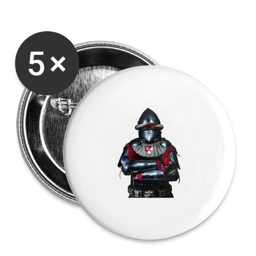 chevalier.png - Lot de 5 grands badges (56 mm)