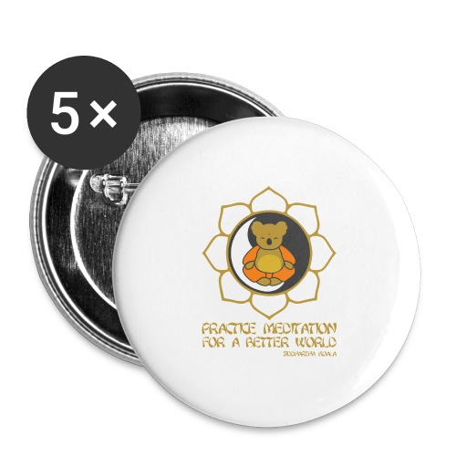 Buddha - Buttons groß 56 mm (5er Pack)