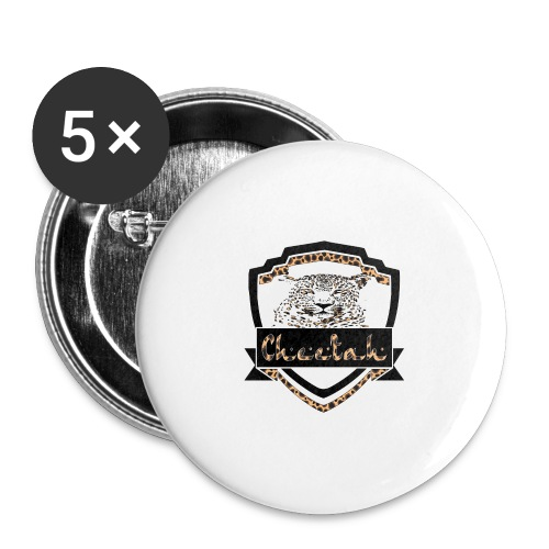 Cheetah Shield - Buttons large 2.2''/56 mm(5-pack)