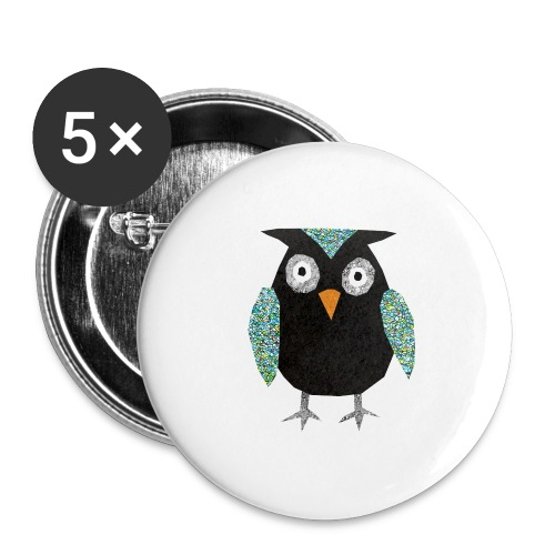 Collage mosaic owl - Buttons large 2.2''/56 mm(5-pack)