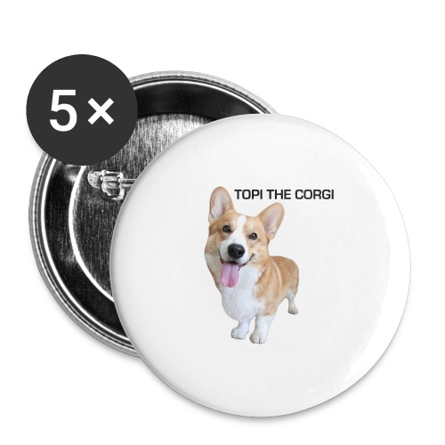 Silly Topi - Buttons large 2.2''/56 mm(5-pack)