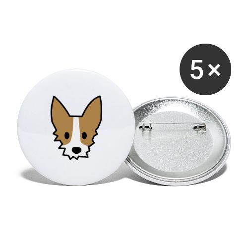 Podengo - Buttons groß 56 mm (5er Pack)