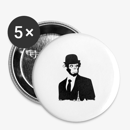 COLLECTION *BLACK MONKEY PARIS* - Lot de 5 grands badges (56 mm)
