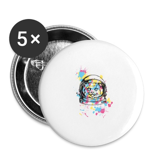 Space Cat - Buttons groß 56 mm (5er Pack)