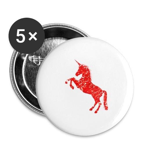 unicorn red - Przypinka duża 56 mm (pakiet 5 szt.)