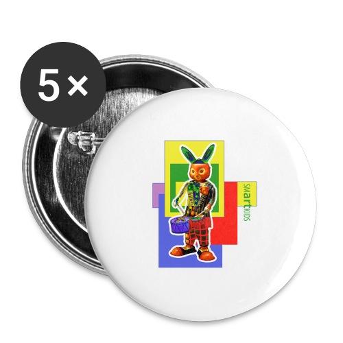 smARTkids - Slammin' Rabbit - Buttons large 2.2''/56 mm(5-pack)