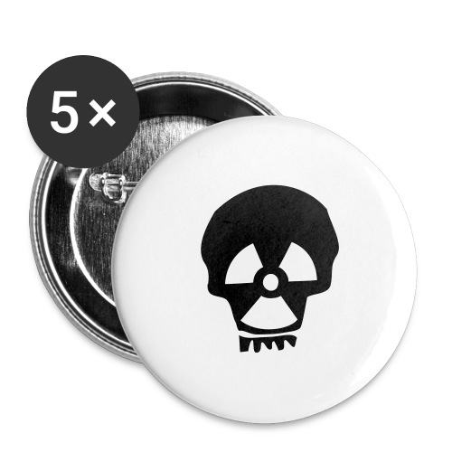 totenkopf nuklear - Buttons groß 56 mm (5er Pack)