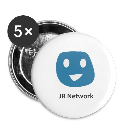 JR Network - Buttons large 2.2''/56 mm(5-pack)