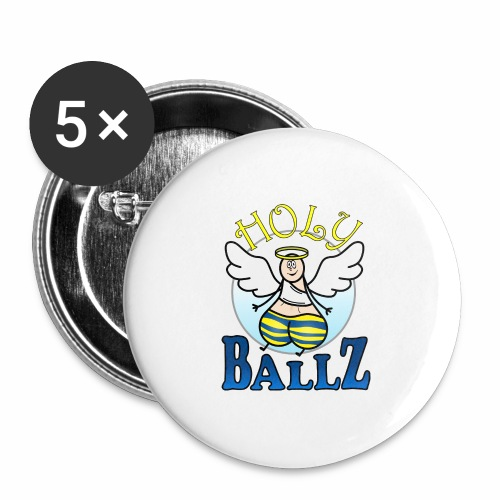 Holy Ballz Charlie - Buttons large 2.2''/56 mm (5-pack)