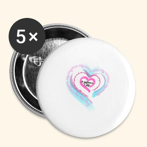 Corazón Ajeno - Paquete de 5 chapas grandes (56 mm)