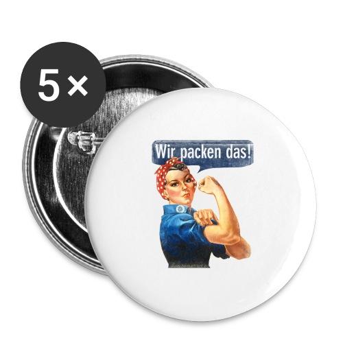 Wir packen das Frei 17cm - Buttons groß 56 mm (5er Pack)