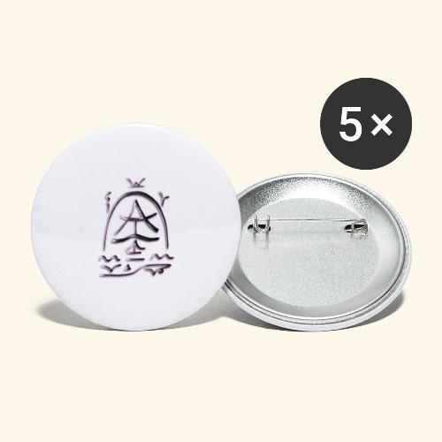 Arfolara solo - Buttons groß 56 mm (5er Pack)