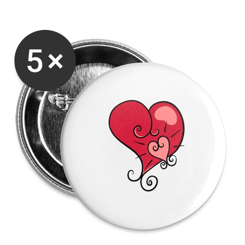 The world's most important. - Buttons large 2.2''/56 mm (5-pack)