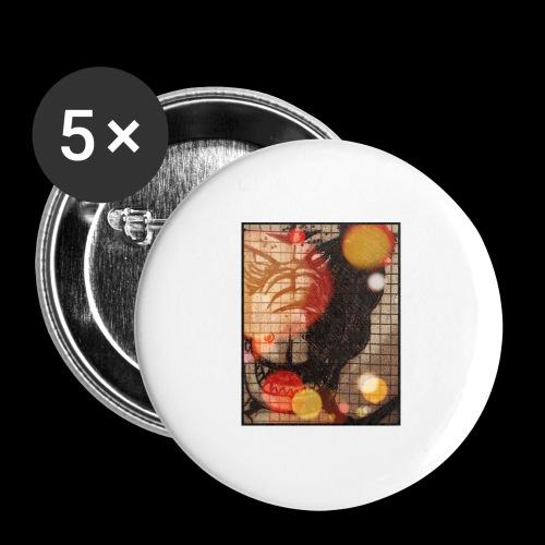 dragon - Confezione da 5 spille grandi (56 mm)