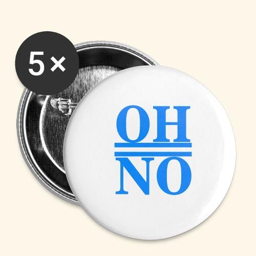 Oh no - Confezione da 5 spille grandi (56 mm)