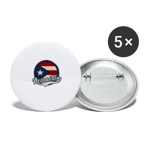 Reggaeton Music - Puerto Rico - Buttons groß 56 mm (5er Pack)