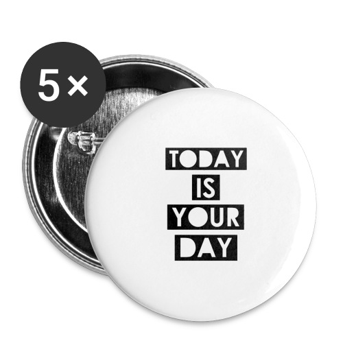 Official Design Kompas Today is your day - Buttons groot 56 mm (5-pack)