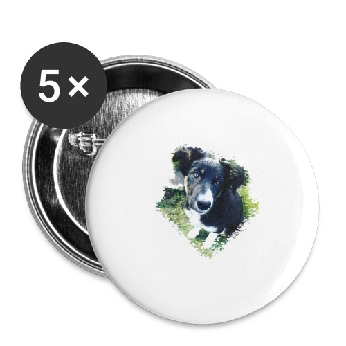 colliegermanshepherdpup - Buttons large 2.2''/56 mm (5-pack)
