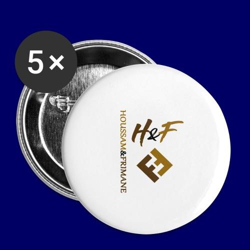 h&F luxury style - Confezione da 5 spille grandi (56 mm)