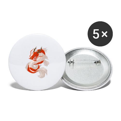 Dragon koi - Confezione da 5 spille grandi (56 mm)