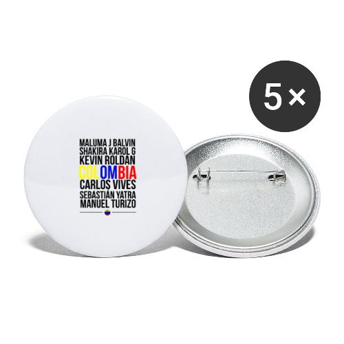 Reggaeton Shirt Kolumbien - Buttons groß 56 mm (5er Pack)