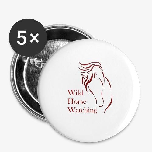 Logo Aveto Wild Horses - Confezione da 5 spille grandi (56 mm)
