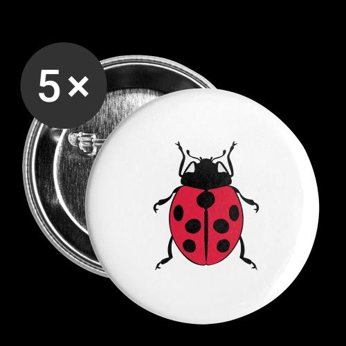 marienkaefer - Buttons groß 56 mm (5er Pack)