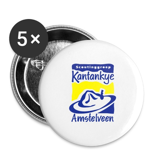 logo simpel 2 - Buttons groot 56 mm (5-pack)