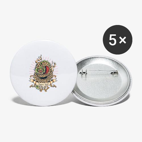 Esprit de dragon - Lot de 5 grands badges (56 mm)
