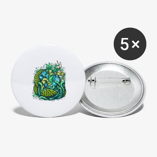 Dieu de la mer - Lot de 5 grands badges (56 mm)