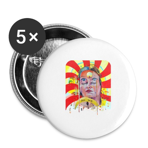 in the city of the future - Buttons groot 56 mm (5-pack)