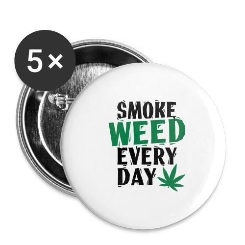 Smoke Weed Everyday Linovert - Lot de 5 grands badges (56 mm)