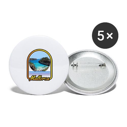Mallorca - Buttons groß 56 mm (5er Pack)
