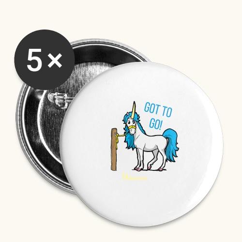 Dessin drôle de licorne disant bande dessinée cadeau - Lot de 5 grands badges (56 mm)
