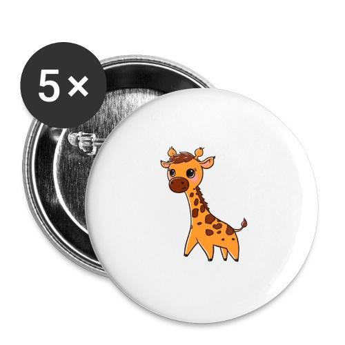Mini Giraffe - Buttons large 2.2''/56 mm(5-pack)