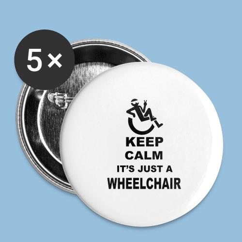 Keepcalmjustwheelchair2 - Buttons groot 56 mm (5-pack)