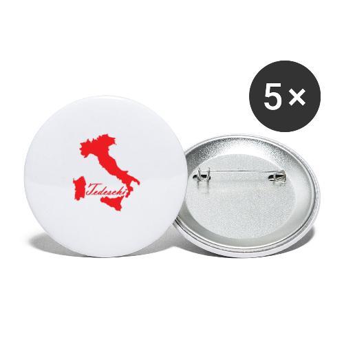 Tedeschi rouge - Lot de 5 grands badges (56 mm)