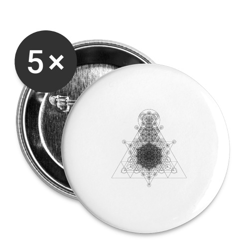 Sacred Geometry Higher Dimension Black - Buttons large 2.2''/56 mm(5-pack)