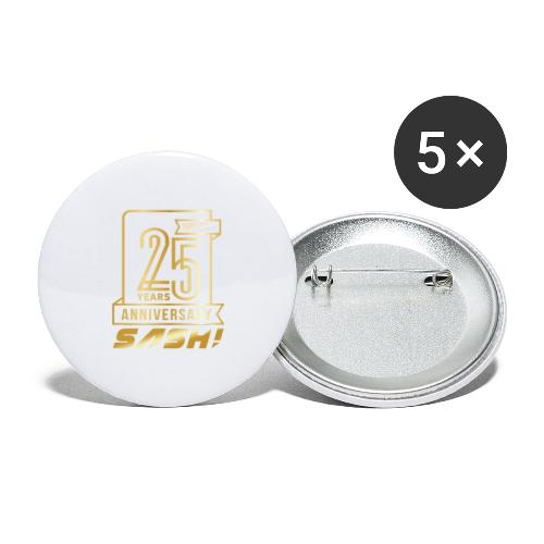 SASH! 25 Years Annyversary - Buttons large 2.2''/56 mm(5-pack)
