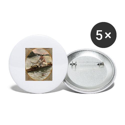 Lady Sculler - Anonyme - Lot de 5 grands badges (56 mm)