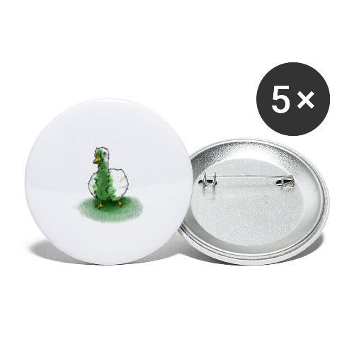 Ente Übergeben | Lustig Geschenk Humor - Buttons groß 56 mm (5er Pack)