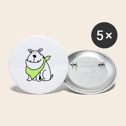 Bouledogue mignon - Lot de 5 grands badges (56 mm)