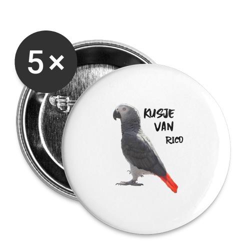 Kusje van Rico - Buttons groot 56 mm (5-pack)