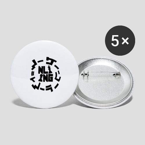 NG NL - Anime | für Herren und Damen - Buttons groß 56 mm (5er Pack)