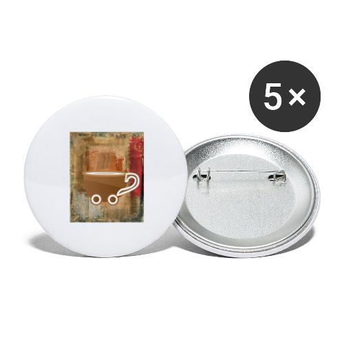 vintage coffee - Buttons groß 56 mm (5er Pack)