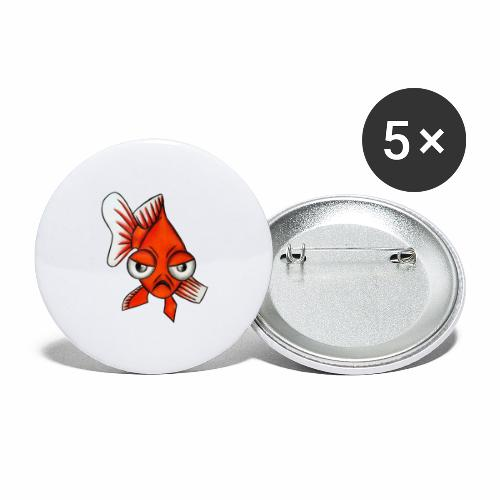Boze vis - Buttons groot 56 mm (5-pack)
